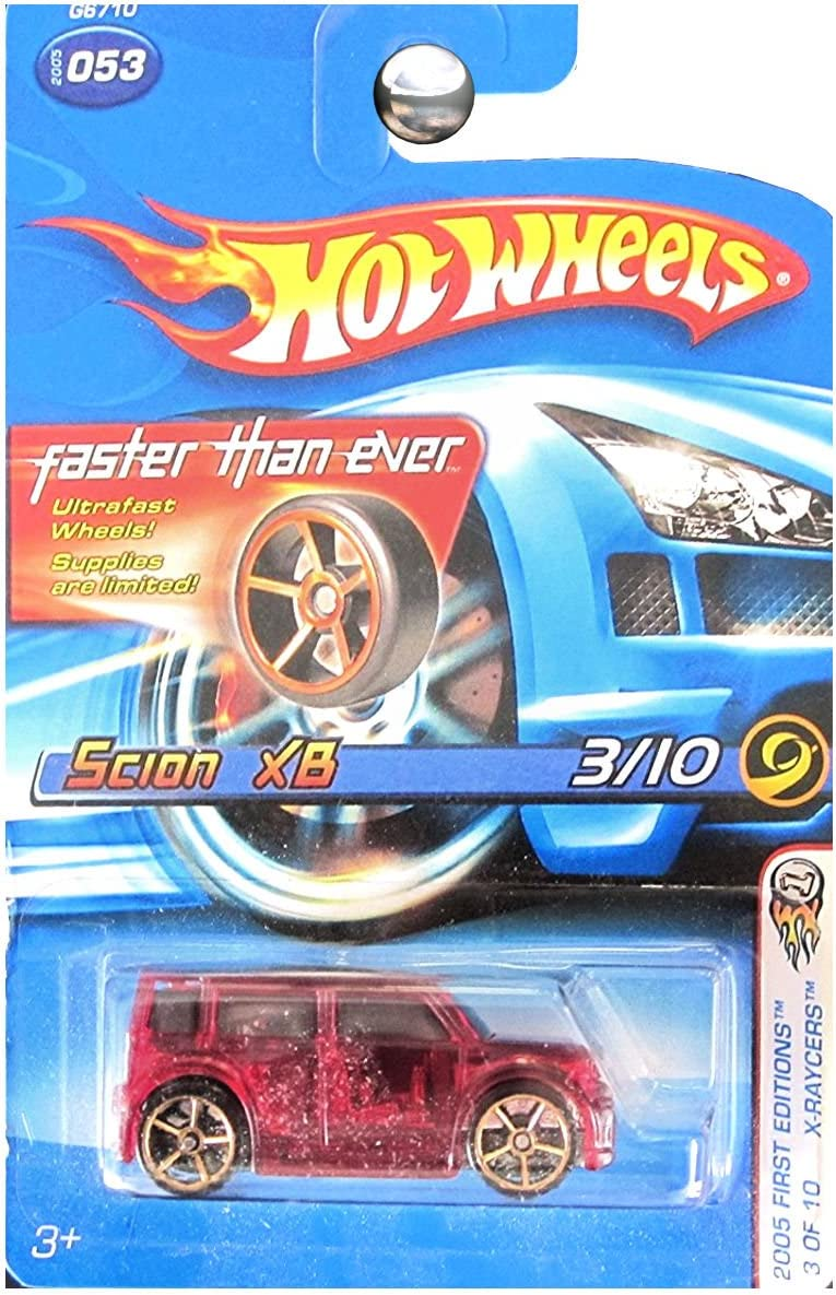 2005 HOT WHEELS FIRST EDITIONS X-RAYCERS SCION xB BLUE   3//10  #053 B18
