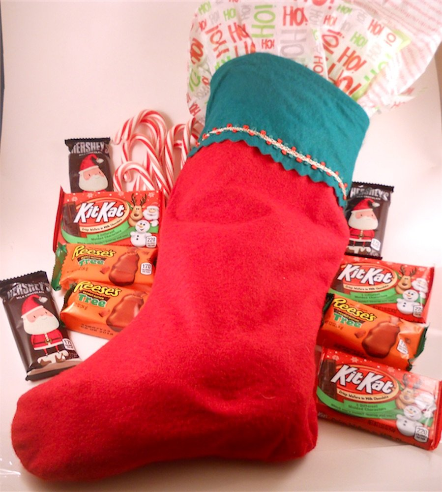 Amazon.com : Stocking Pre-Filled with Christmas Candy Assortment ...