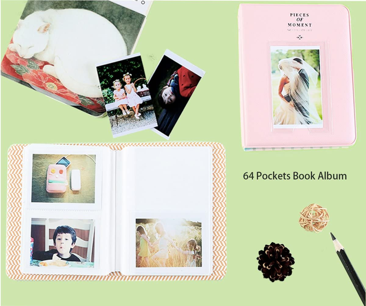 Filters Bundle Pack Include Albums Kitty,9 Items Kit Shoulder Strap/&Other Accessories Case /& Accessories Compatible with Fujifilm Instax Mini 9//8//8+ Instant Polaroid Film Camera by SAIKA