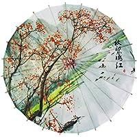 GODHL Bambú chino Oriental paraguas sombrilla clásica Danza