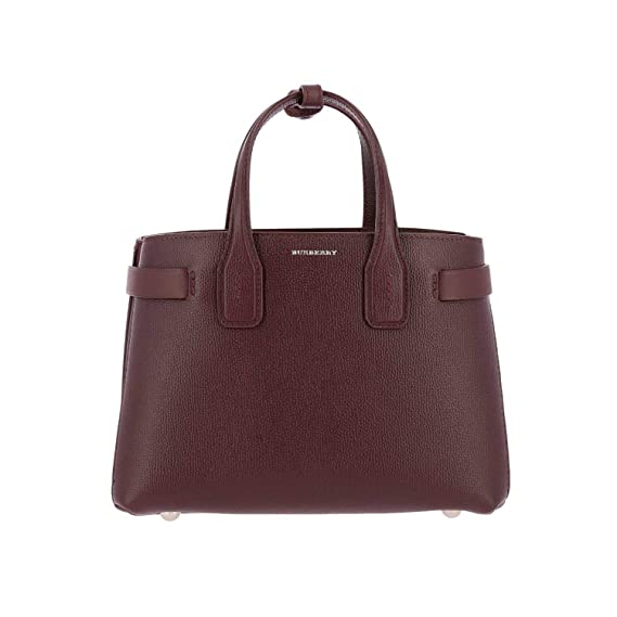 Image Unavailable. Image not available for. Colour  Burberry Women s  4076637 Burgundy Leather Handbag 7a0dbc853