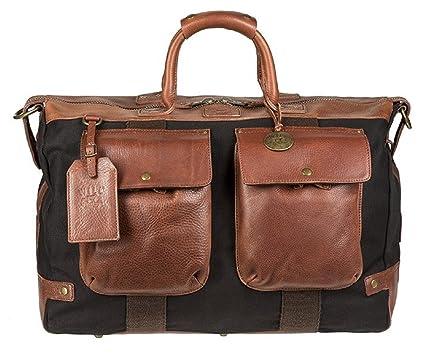 55f4d52d95 Will Leather Goods Men s Traveler Duffel Bag - Brown Black