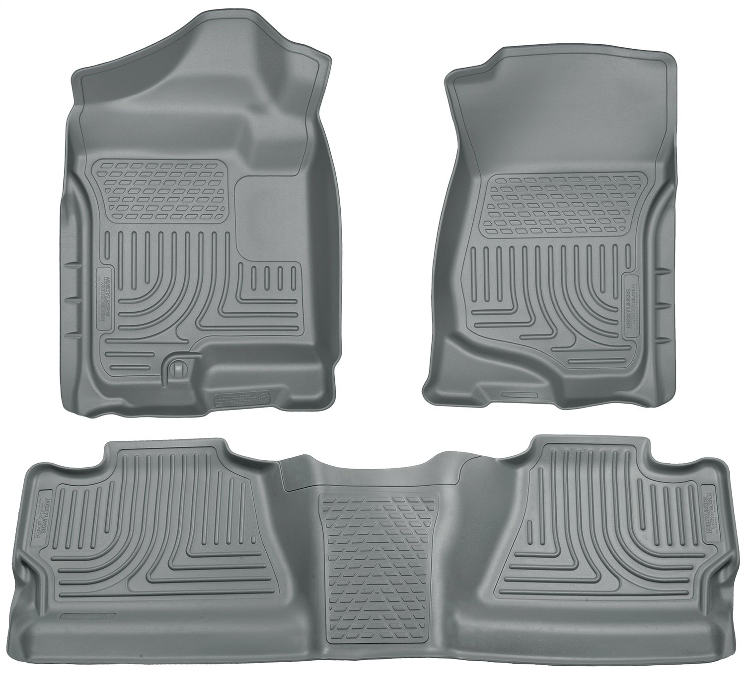 Husky Liners Front/&2nd Seat Floor Liners Fits 07-13 Silverado//Sierra Extended 98213