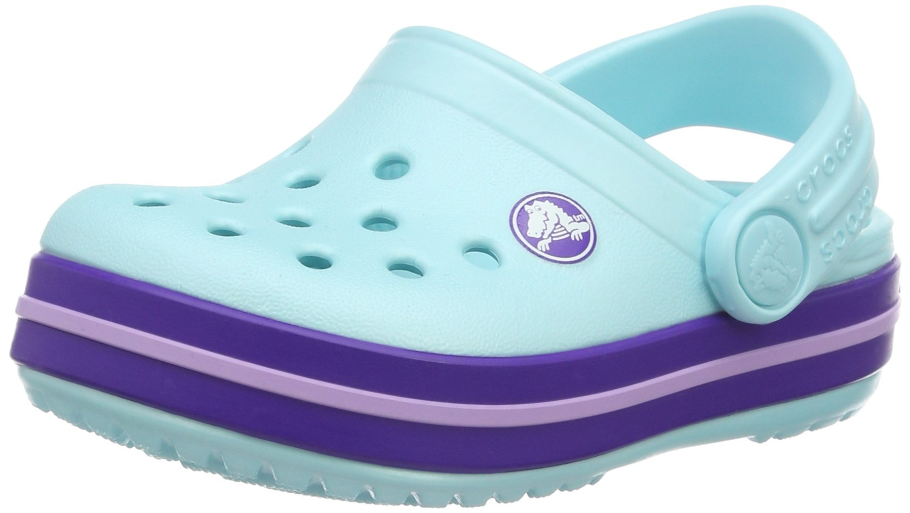 Crocs Kids' Crocband K Clog, Ice Blue, 2 M US Little Kid