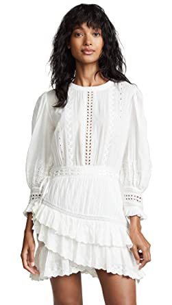dbb3e5fcd9d01 LOVESHACKFANCY Women's Lorelei Dress, Ivory, White, Off White, X-Small