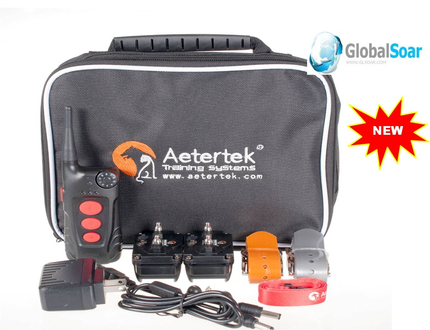 Aetertek 918C-2 600 Yard 9 Level 2 Dogs Training Anti Bark & Waterproof Collar by Aetertek
