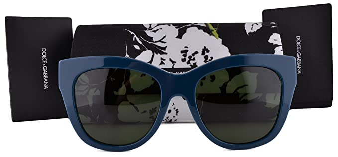 7cd5fe432ce9 Image Unavailable. Image not available for. Colour  Dolce   Gabbana DG4270  Sunglasses Top Petroleum Print Rose w Gray Green Lens 3022