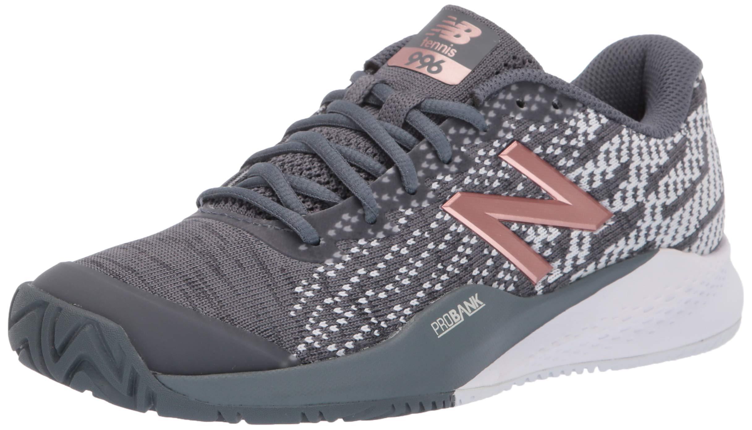New Balance Women's 996v3 Hard Court Tennis Shoe Black/Champagne 5 D US