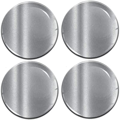 4 x 68mm 3D Domed Car Wheel Centre Rims Silver Stickers Decals for Caps Vehicle Auto Tuning Emblem A 9768: Automotive