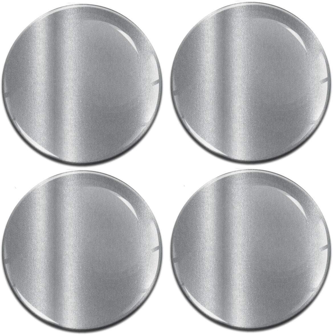 4 x 70mm 3D Domed Car Wheel Centre Rims Silver Stickers Decals for Caps Vehicle Auto Tuning Emblem A 9770