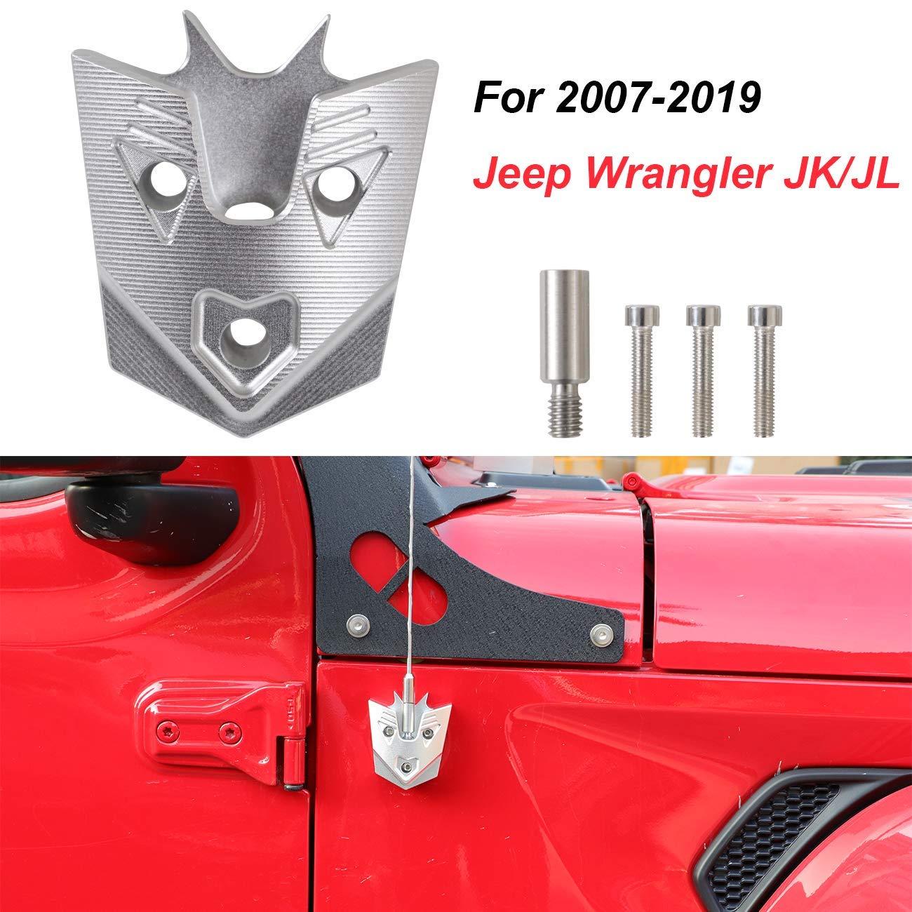 Jeep Wrangler JL /& JK Accessories /& Jeep Aerial 5.7 Red Heavy Gauge Billet Aluminum Antenna Replacement AM FM Radio Signal Reception for Jeep Wrangler JK /& JL /& TJ 1997-2019