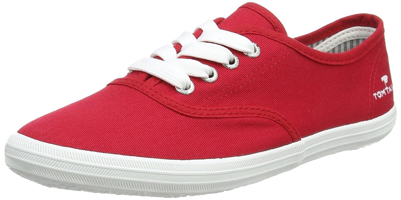 Tom Tailor 4892401, Scarpe da Barca Donna Rosso (Rosso)