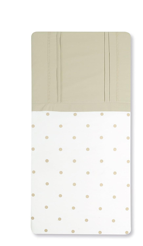 Bimbi Romantic–Bettbezug, 62x 125cm, Farbe Weiß und Leinen