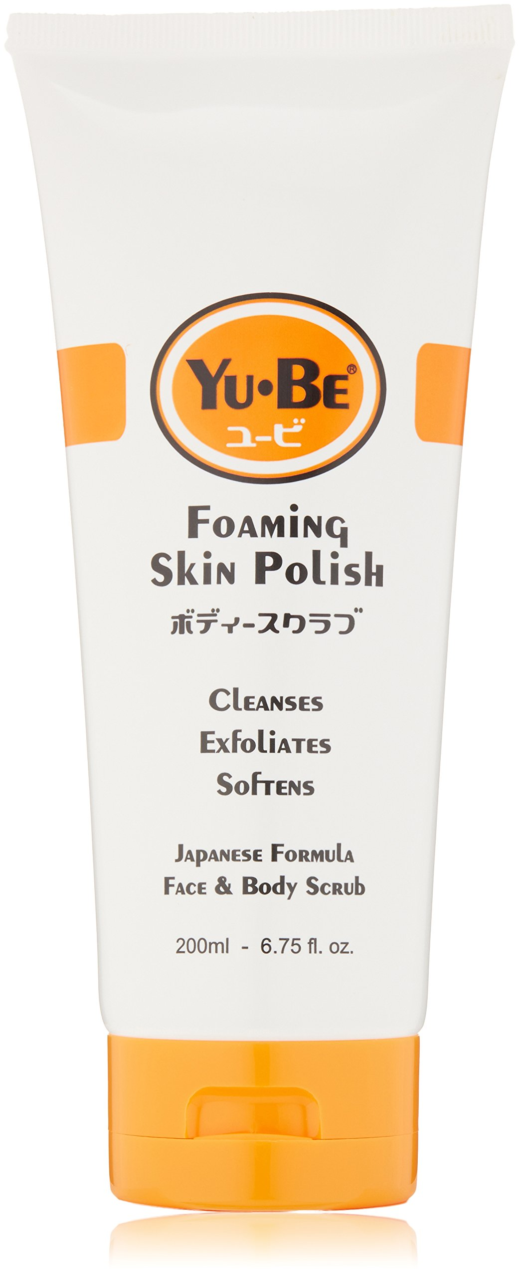 Yu-Be Foaming Skin Polish: Gently exfoliates using fine grains of rice bran & bamboo. Tones and balances with ginger root & ginseng. Soothes with green tea, geranium oil & camphor. Tube, 6.75 Fl Oz