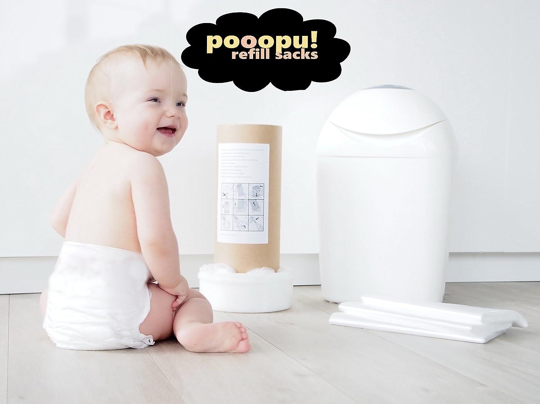 Refill sacks folie for Sangenic / Angelcare 100m.+ PAPER TUBE free Pooopu