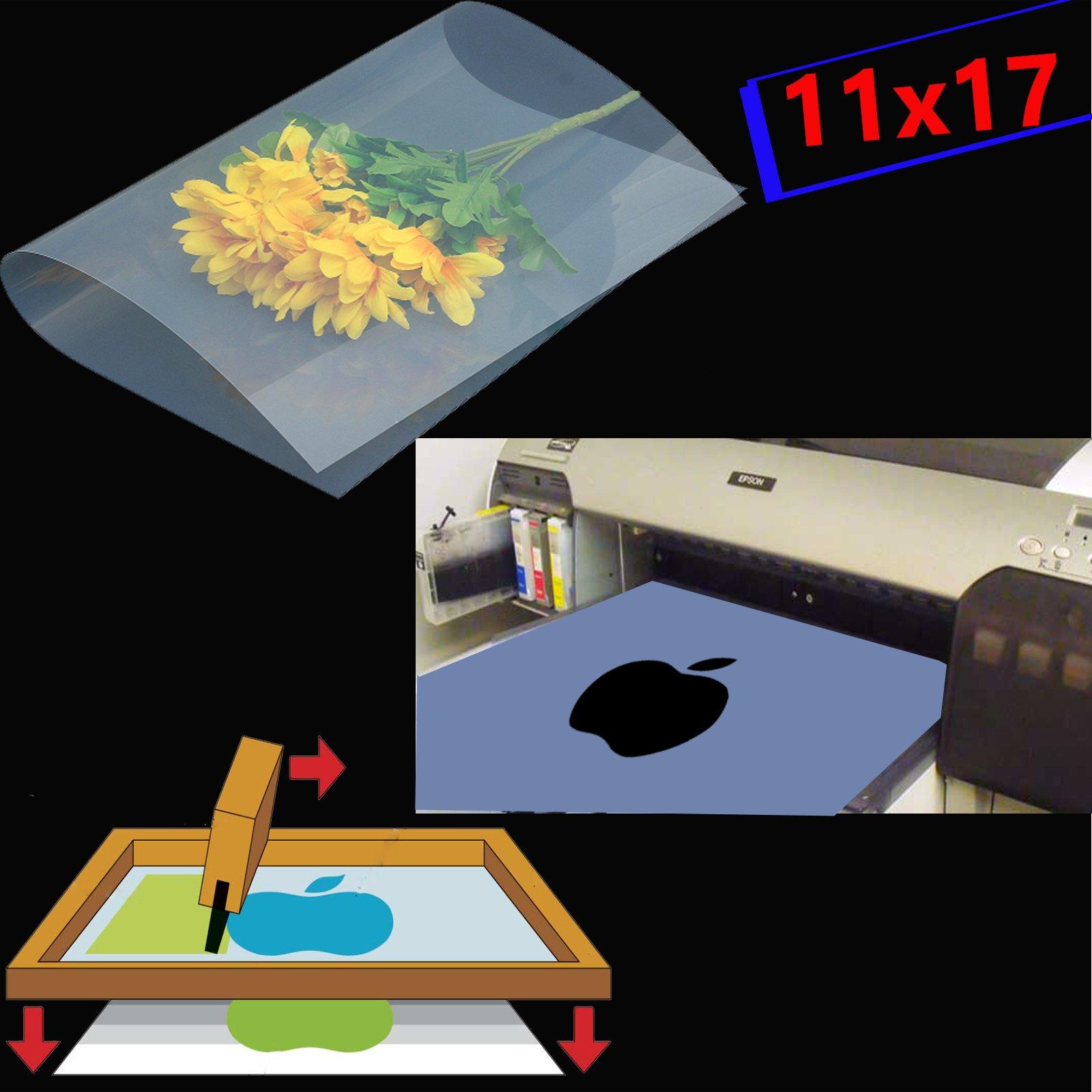 (400 sheets,11''x17'') Waterproof Inkjet Silk Screen Printing Transparency Film