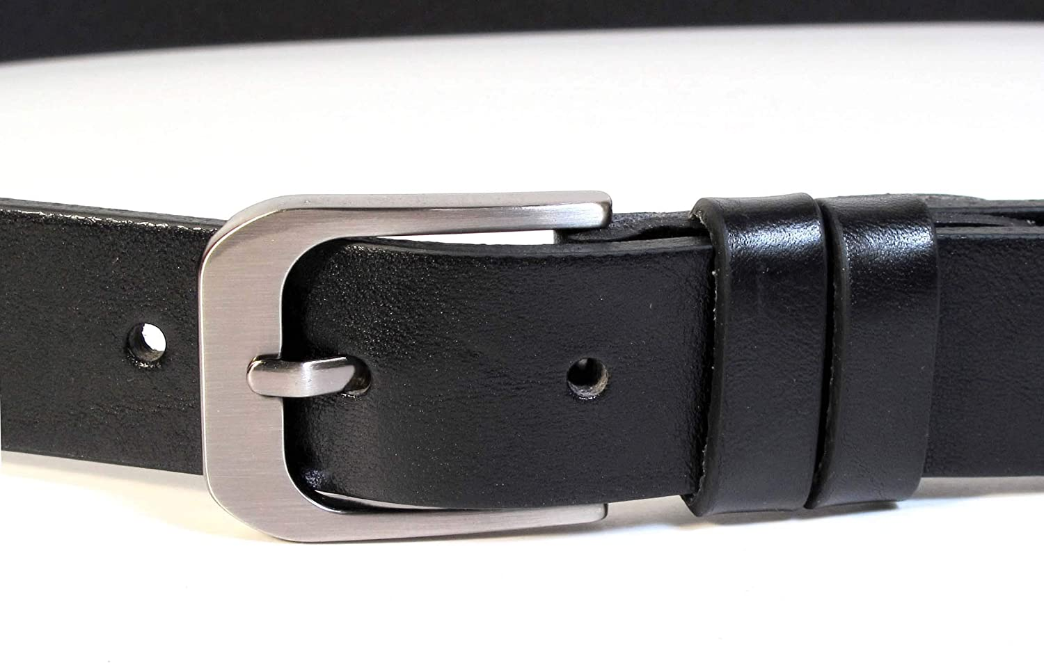 Mens Real Genuine Leather Belt Black Brown White 1.1 Wide S-L Casual Jeans CA3