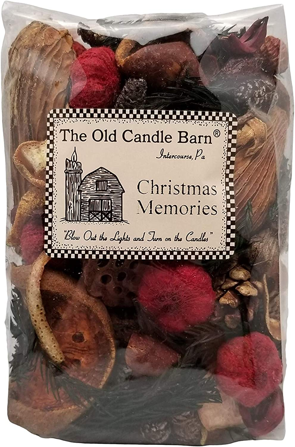 Old Candle Barn Christmas Memories Potpourri 4 Cup Bag - Perfect Fall, Winter Decoration or Bowl Filler - Beautiful Christmas Scent - Made in USA