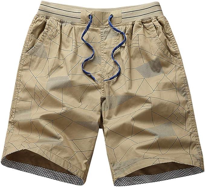 Pantalones Cortos Hombre Verano Moda Playa pantalón Corto ...