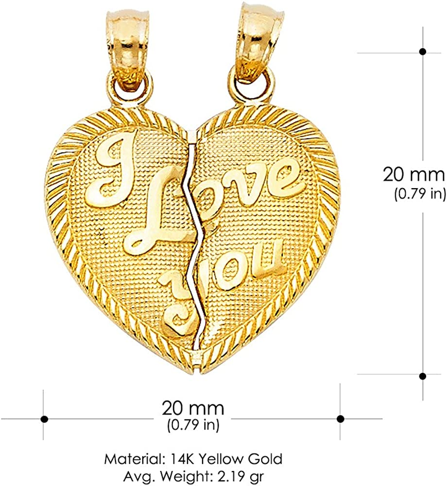 """Yellow or White GP Key-To-My-Heart Charm Necklace 20/"""" 24/"""" Chain"""