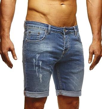 df7df750a0b8 LEIF NELSON Herren Jeans Shorts LN1397  Amazon.de  Bekleidung