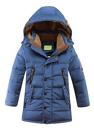 OUO Daunenjacke für Kinder kälteschutz Lange Jacke mit