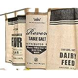 FUYA現代の黒と白のミニマリストのスタイルキッチンの半分のカーテン台所のカーテン・カフェ短いパネルカーテン (B) [並行輸入品]