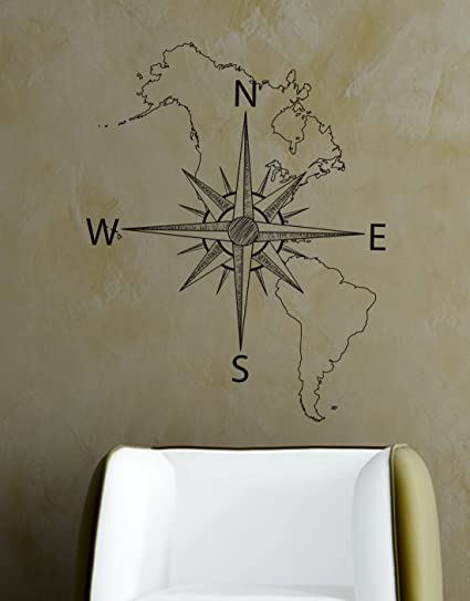 Map of the Continental US Vinyl Wall Decal MAP001