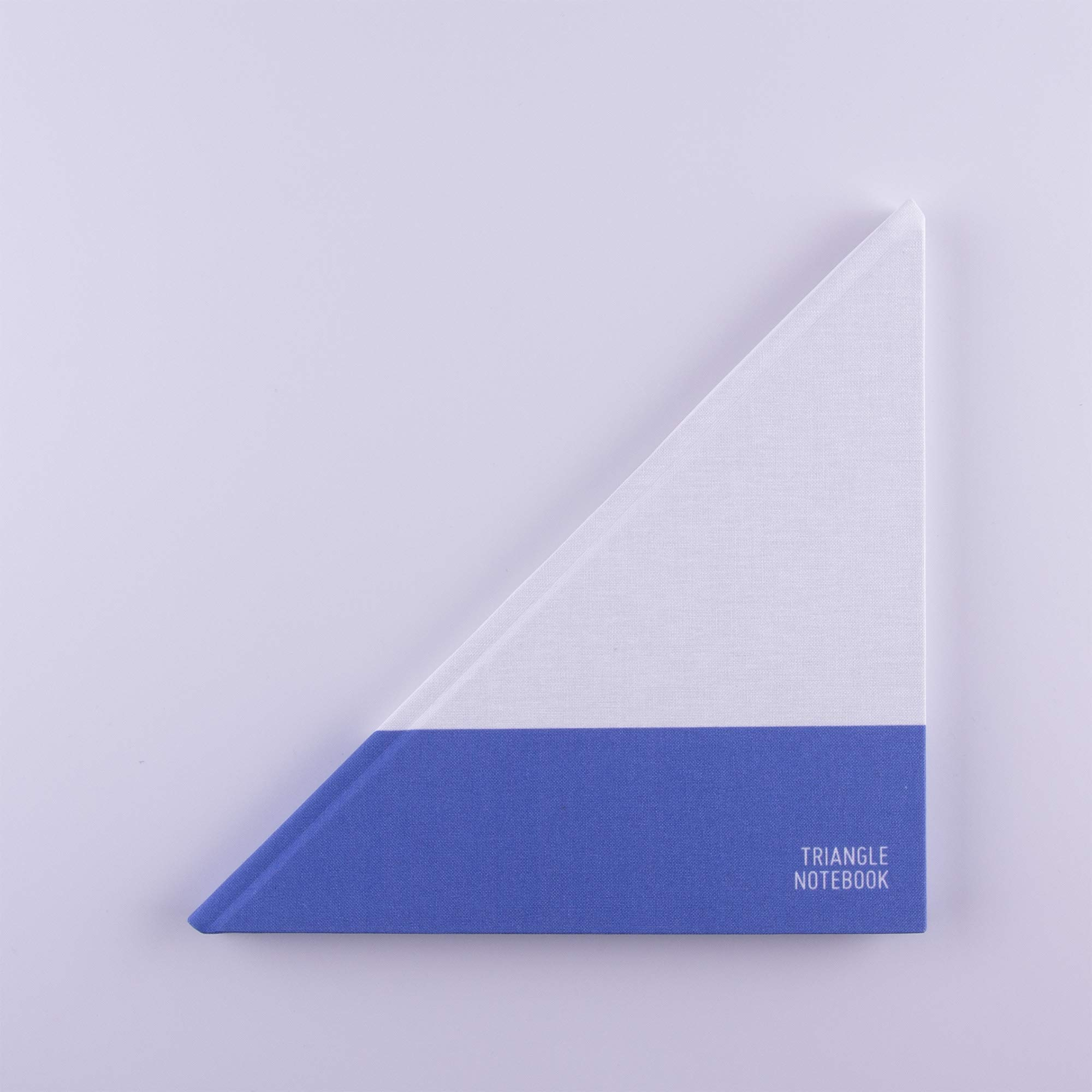 Triangle Notebook - Fabric Hardcover Notebook - Unique Design (Yachtsman Edition - Blue) by Triangle Notebook