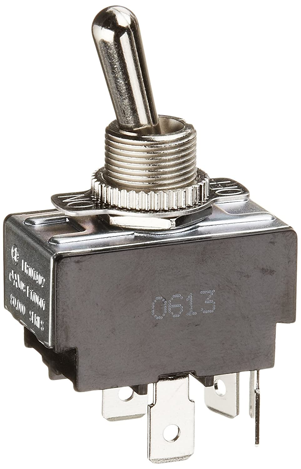 Toggle Switch, Maintained Contact and Multiple Pole, On Off Circut Function, DPST, Brass/Nickel Actuator, 20/10 amps at 125/250 VAC, 0.250 Quikconnect Connection NSi Industries 78130TQ