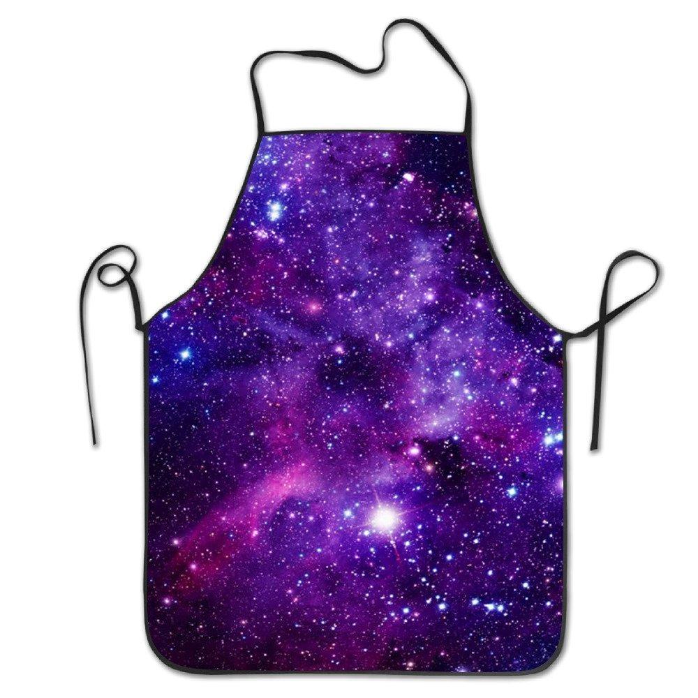 Galaxy Starキッチンエプロンの女性絵画エプロンドレスメンズ料理エプロンエプロンドレス   B07DHD94PC