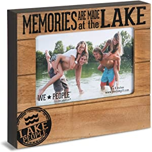 Pavilion Gift Company 67065 Memories are Made at The Lake Photo Frame, 7-1/2 x 6-3/4""