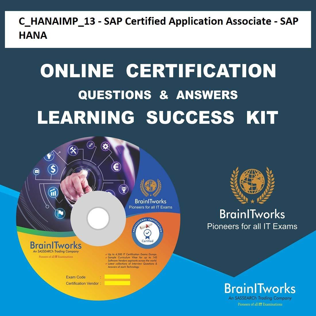 Chanaimp13 Sap Certified Application Associate Sap Hana Online