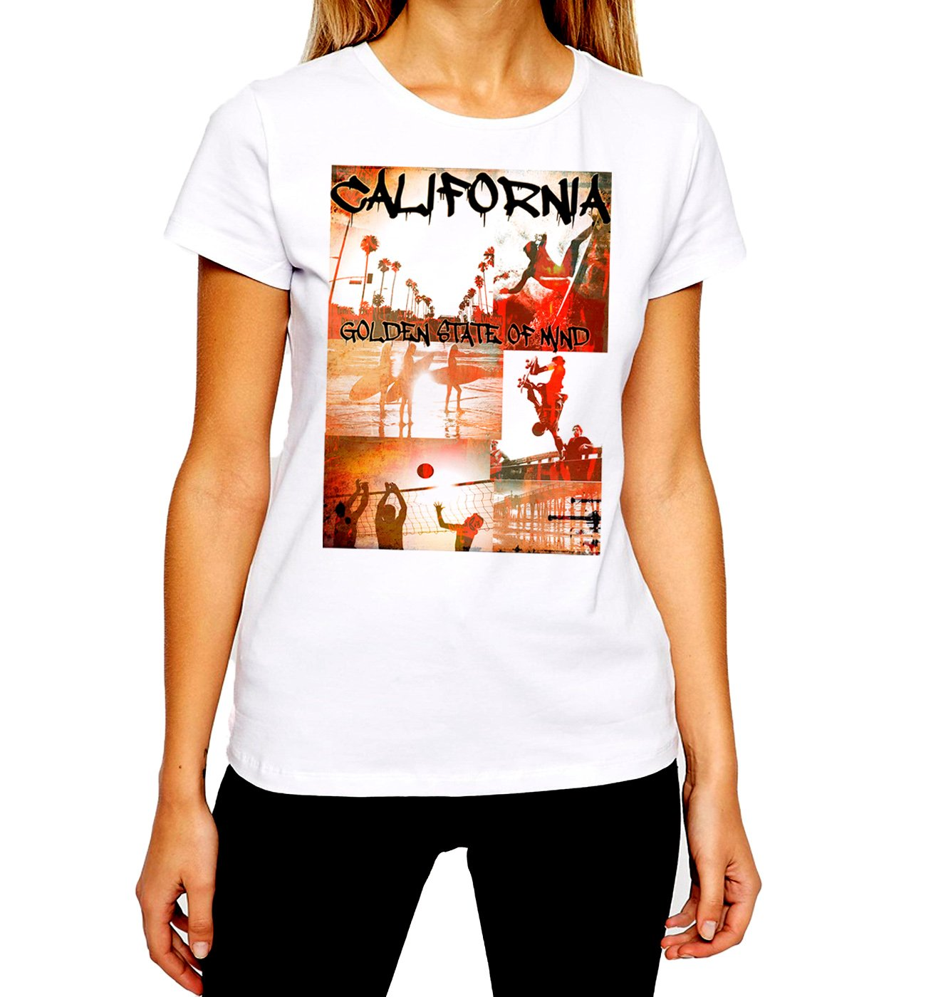 California Tshirt Los Angeles La San Diego Beach Surfing Tee Ii