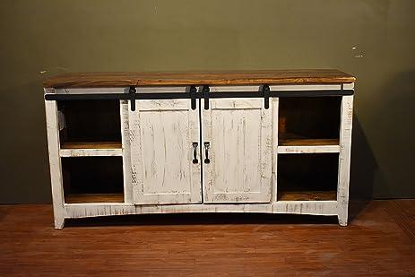 Amazon diyhd 70 wooden cabinet double sliding barn door diyhd 70quot wooden cabinet double sliding barn door hardware mini closet barn door track kit eventshaper
