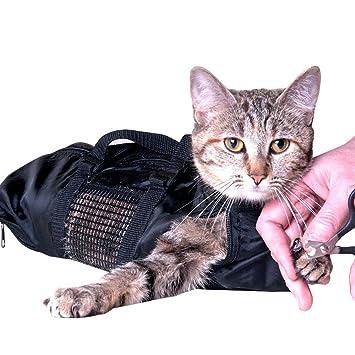 ASOCEA Preparación Pet Bolsa Bolsa de sujeción de baño del Gato 9(18Inx 9In): Amazon.es: Productos para mascotas