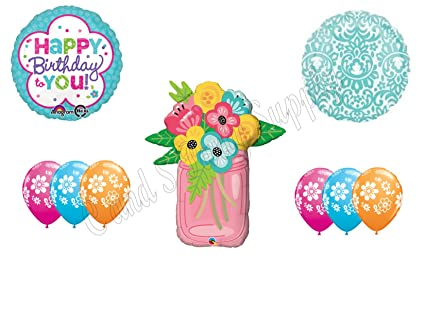 Amazon MASON JAR FLOWERS Birthday Party Balloons Decoration Supplies Canning Mom Everything Else