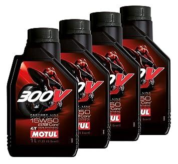 Oferta 4 L Aceite Motul Motor 300 V 15 W50 4T Factory Line Racing 100%