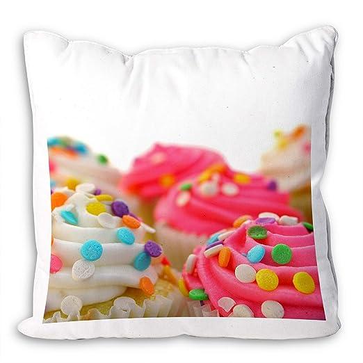Funda de cojín para sofá, diseño abstracto de cupcake, color ...