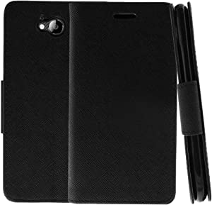 TurtleArmor   Compatible with ZTE Majesty Pro Case   ZTE Majesty Pro Plus Case   Flip Kickstand Wallet Case Leather Cover with Card Slots Music - Black