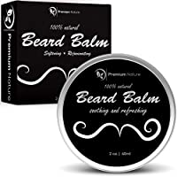 Beard Balm leave-in conditioner – all Natural barba olio per barba baffi crescita – lenisce ammorbidisce Tames & stili Hair – Best gift for Men Premium Nature