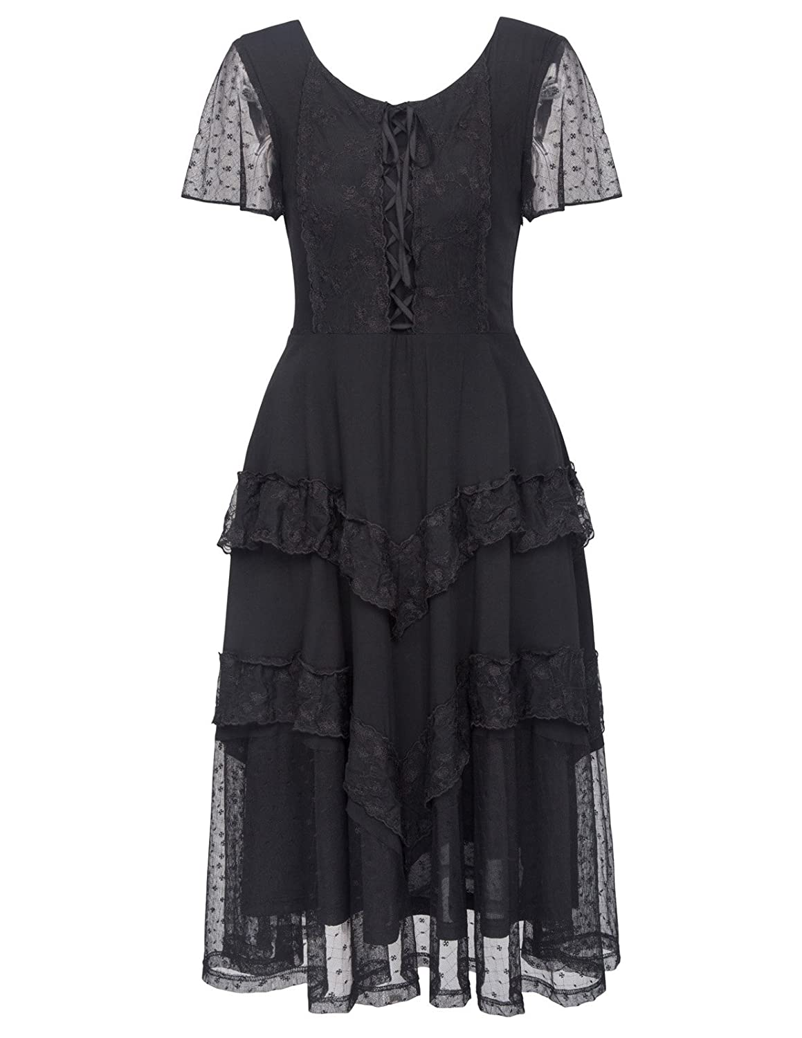 Steampunk Dresses | Women & Girl Costumes Belle Poque Steampunk Victorian Titanic Lace Maxi Dress Tea Party Gown Antique Dress $43.99 AT vintagedancer.com
