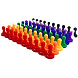 Hyamass 80pcs Colorful Plastic 24mm Pawns Pieces for Board Games, Tabletop Markers Component