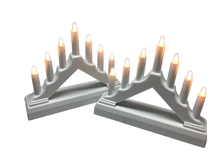 Set of 2 218750 LED Window Candle for Christmas Decoration YAKii 7 LED Lights Battery Operated LED Arch Candle Bridge