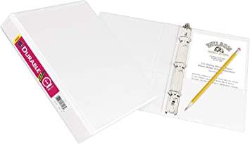 Avery Durable View Binder with 1 Round Rings 1 Set Damask with Write /& Erase Durable Plastic Dividers 5 White Tabs