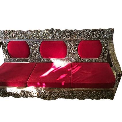 Amazon.com: Mogulinterior Antique Teak Sofa Hand Carved ...
