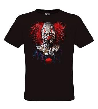 DarkArt-Designs Zombie Clown - Camiseta Zombie en Traje de Payaso para Hombres y Mujeres - Heavy Metal Estilo de Vida T-Shirt Regular fit: Amazon.es: Ropa y ...