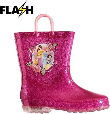 Disney Princess Cowboy boots pink with lights New sz 5 Lights no box Childrens