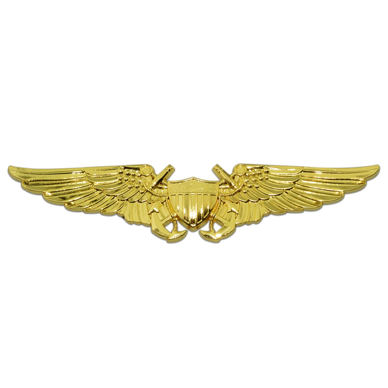 Naval Flight Officer Wings Gold Metal Auto Emblem Honor Country NFO