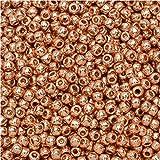 Toho Round Seed Beads 11/0 #PF551 - Permanent Finish Galvanized Rose Gold (8g)